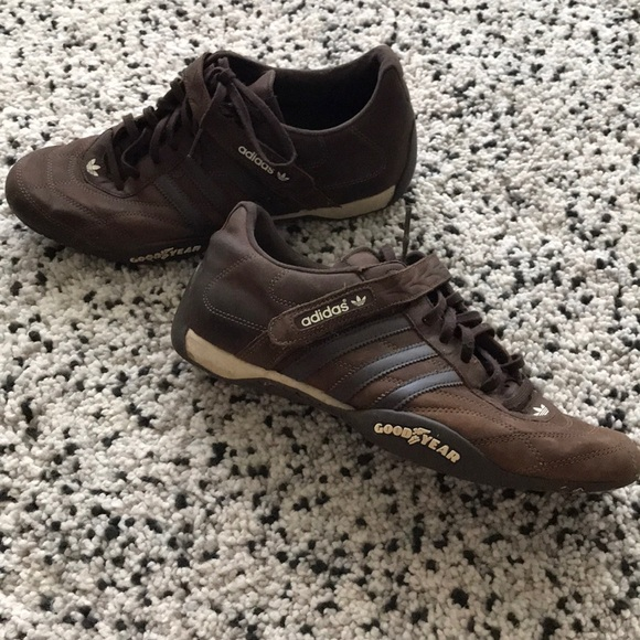 Perth Blackborough Sotavento Pintura  adidas Shoes | Adidas Brown Leather Shoes With Laces And Velcro | Poshmark